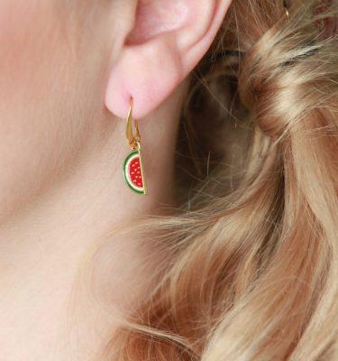 Ohrringe mit Wassermelone