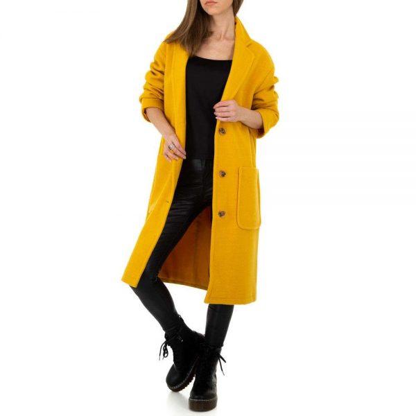 Damenmantel in gelb
